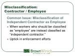 misclassification contractor employee