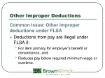 other improper deductions