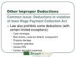 other improper deductions2