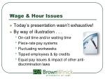 wage hour issues