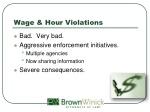 wage hour violations
