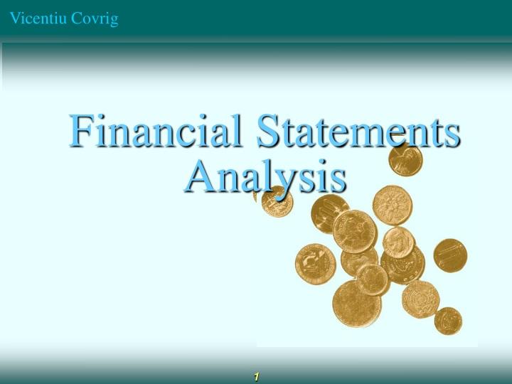 financial statements analysis n.