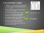 a economic crisis