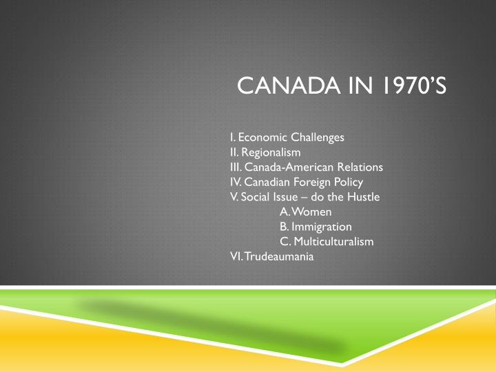 canada in 1970 s