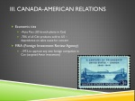 iii canada american relations