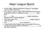 major league sports