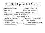 the development of atlanta