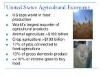 united states agricultural economy