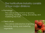 the horticulture industry consists of four major divisions