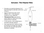 extrusion thin polymer films