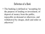 definition of a bank