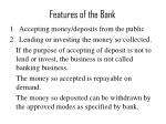 features of the bank
