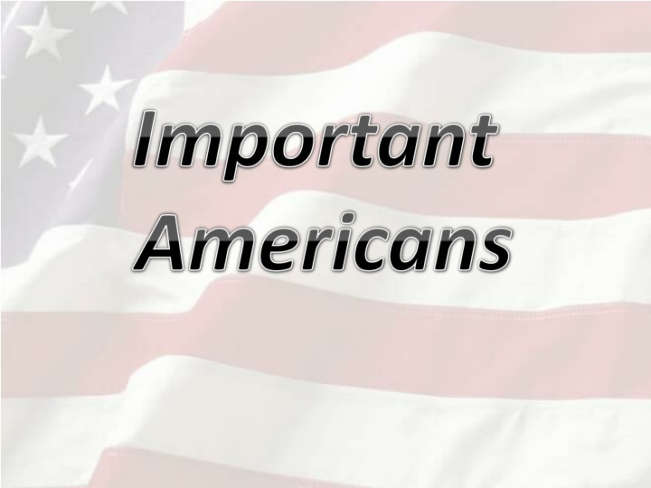 important americans n.