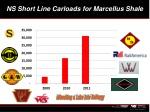 ns short line carloads for marcellus shale