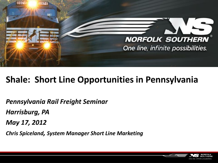 shale short line opportunities in pennsylvania n.