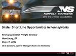 shale short line opportunities in pennsylvania