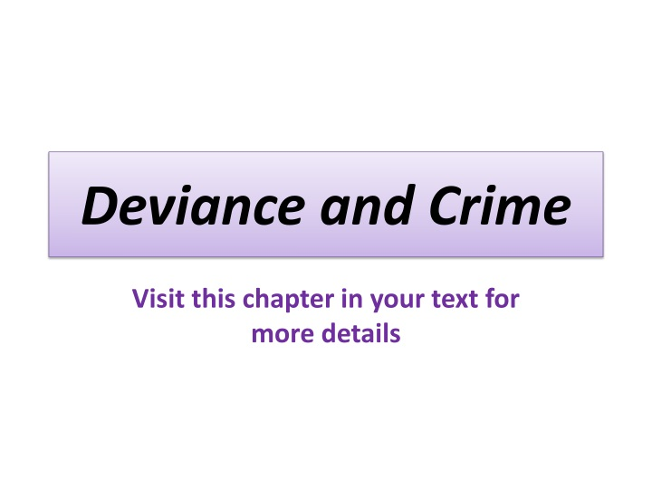 crime and deviance 1 Aqa a level sociology topic essays: crime & deviance page 1 copg 2 e / ee pg pee www2eg item b: the functionalist perspective of crime  unlike other sociological perspectives such as marxism, functionalist sociologists have a positive view of.