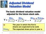 adjusted dividend valuation model