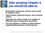 after studying chapter 4 you should be able to