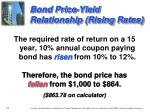 bond price yield relationship rising rates