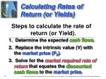 calculating rates of return or yields