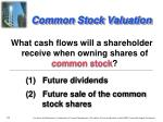 common stock valuation1