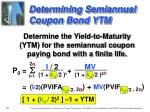 determining semiannual coupon bond ytm