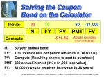 solving the coupon bond on the calculator