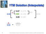 ytm solution interpolate
