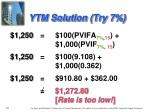 ytm solution try 7