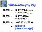 ytm solution try 9