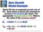 zero growth model example