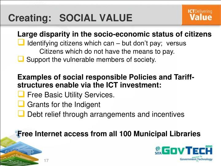 Large disparity in the socio-economic status of citizens