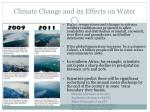 climate change and its effects on water