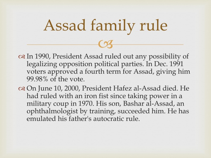 Assad family rule