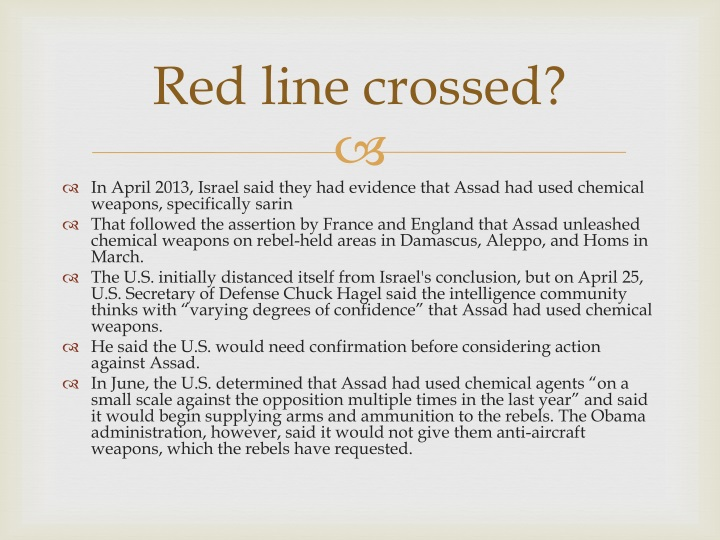 Red line crossed?