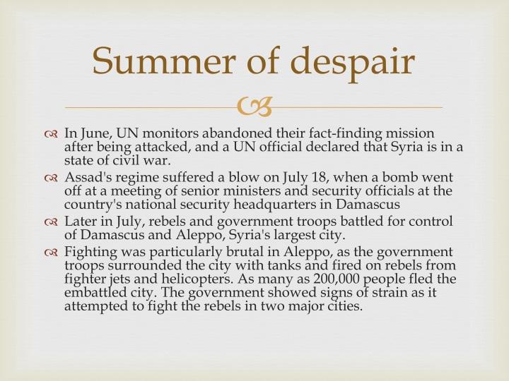 Summer of despair