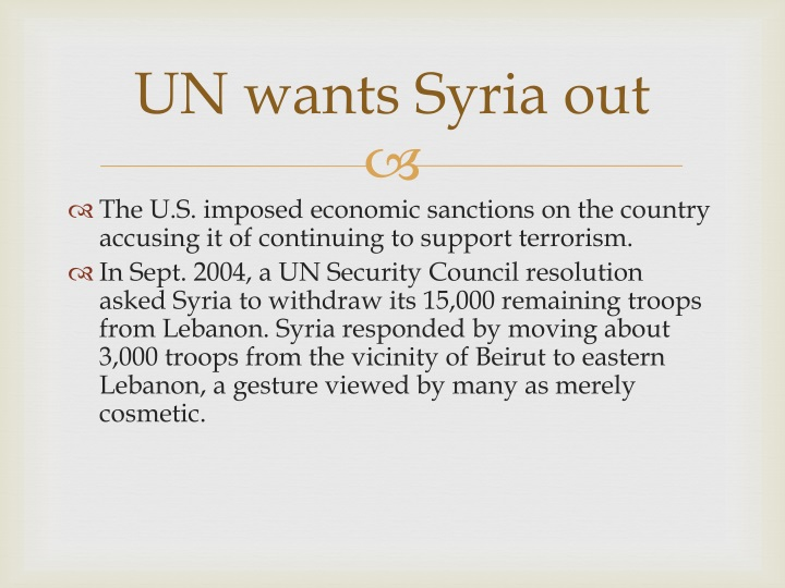 UN wants Syria out