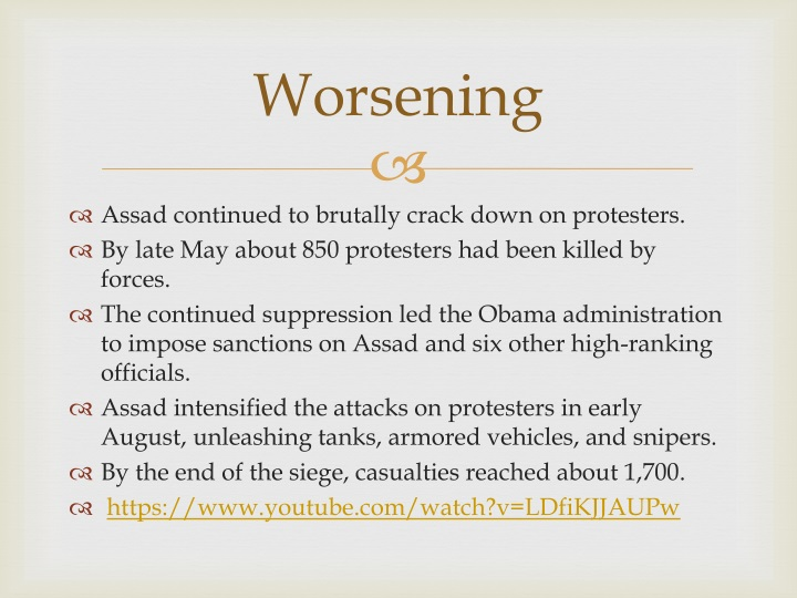 Worsening