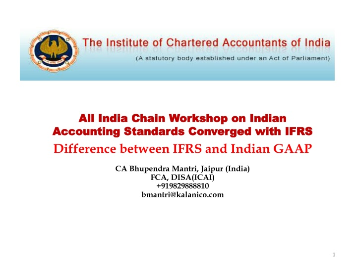 all india chain workshop on indian accounting n.