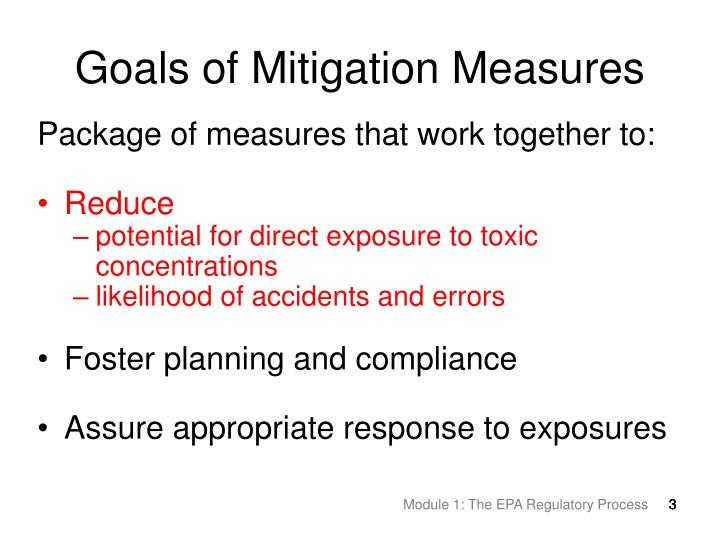 Goals Of Mitigation Measures