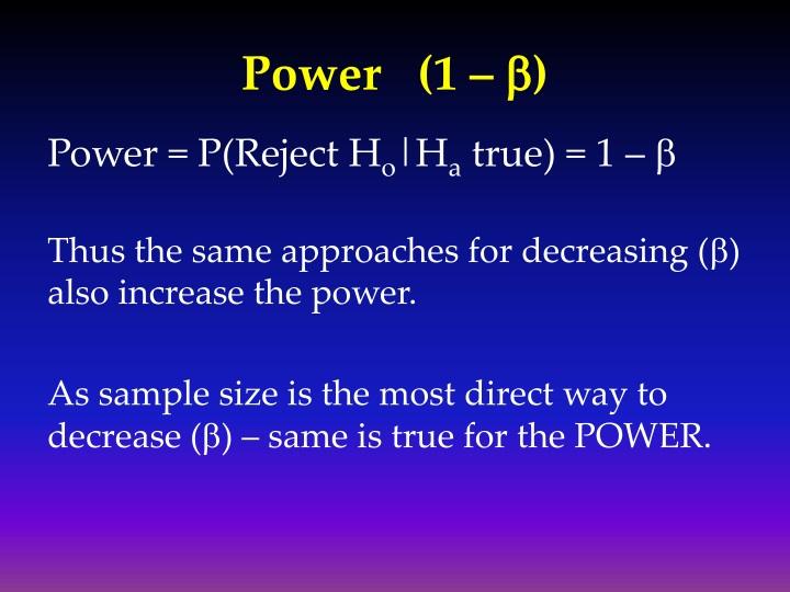Power   (1 –