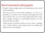 benchmarking setting goals4