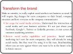 transform the brand