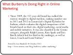 what burberry s doing right in online marketing