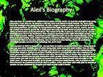 alex s biography