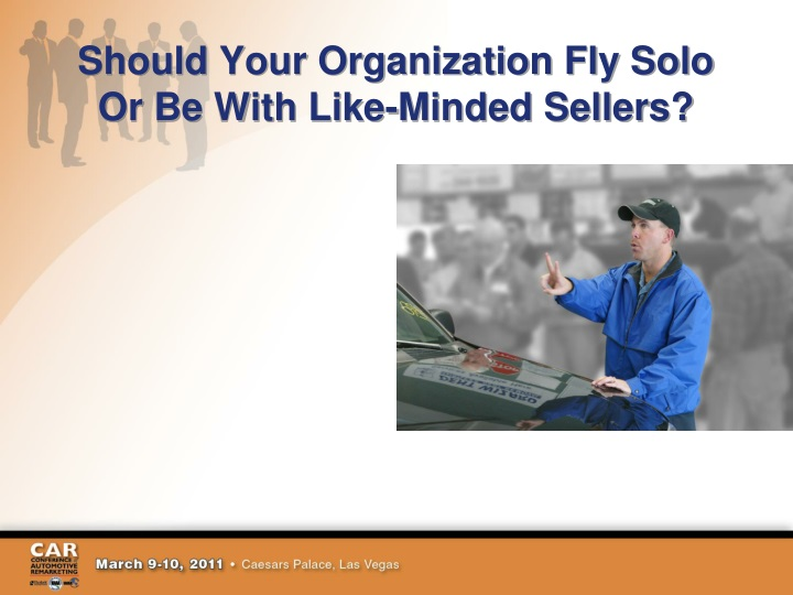 Should Your Organization Fly Solo Or Be With Like-Minded Sellers?