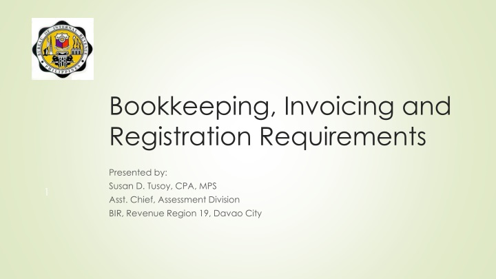 bookkeeping invoicing and registration requirements n.