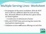 multiple serving lines worksheet