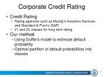 corporate credit rating 1